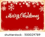 christmas lettering card with... | Shutterstock .eps vector #500029789