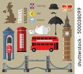 london set of london city... | Shutterstock .eps vector #500038099