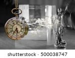 justice delayed is justice... | Shutterstock . vector #500038747