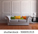 white vintage room with sofa.... | Shutterstock . vector #500051515