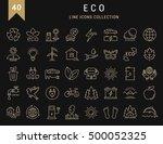 set vector line icons in flat... | Shutterstock .eps vector #500052325