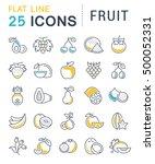 set vector line icons in flat... | Shutterstock .eps vector #500052331