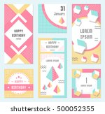 elegant modern flyers and cards ... | Shutterstock .eps vector #500052355
