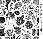 vector seamless pattern with... | Shutterstock .eps vector #500053234