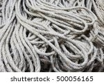 many skeins of raw rope for... | Shutterstock . vector #500056165