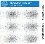 business icon set clean vector   Shutterstock .eps vector #500059207