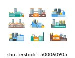 factory or industrial building... | Shutterstock .eps vector #500060905