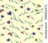 vintage seamless floral... | Shutterstock . vector #500062471