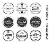 vector set of retro badges and... | Shutterstock .eps vector #500066011