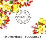 romantic invitation. wedding ... | Shutterstock .eps vector #500068615