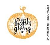 pumpkin vector illustration... | Shutterstock .eps vector #500070385