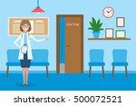 doctor in waiting room.... | Shutterstock .eps vector #500072521