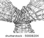 3d abstract architecture | Shutterstock .eps vector #50008204