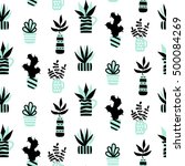 vector seamless pattern with... | Shutterstock .eps vector #500084269