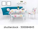 dining table and comfortable... | Shutterstock . vector #500084845