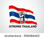 thailand flag strong thailand | Shutterstock .eps vector #500086465
