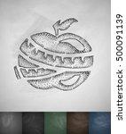 apple icon. hand drawn vector...   Shutterstock .eps vector #500091139