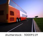 the tourist bus on a background ... | Shutterstock . vector #50009119