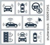 driverless autonomous robotic... | Shutterstock .eps vector #500091541
