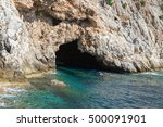 pirates cave in alanya.... | Shutterstock . vector #500091901