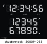 digital clock | Shutterstock .eps vector #500094055
