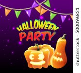 halloween party for invitation...   Shutterstock .eps vector #500096821