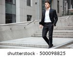 confident young businessman in... | Shutterstock . vector #500098825