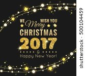 merry christmas and happy new... | Shutterstock .eps vector #500104459