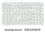 graph paper and hand written... | Shutterstock .eps vector #500105839