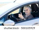 Happy Cheerful Elderly Senior...