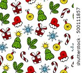christmas color sketch vector... | Shutterstock .eps vector #500111857