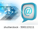 3d illustration of e mail icon... | Shutterstock . vector #500113111