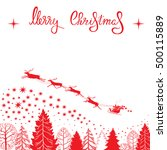 christmas card with silhouettes ... | Shutterstock .eps vector #500115889
