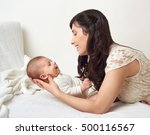 mother with baby portrait ... | Shutterstock . vector #500116567