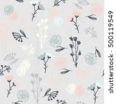 vector doodle seamless patterns.... | Shutterstock .eps vector #500119549