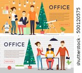 merry christmas and happy new... | Shutterstock .eps vector #500120575