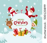 merry christmas greeting card.... | Shutterstock .eps vector #500120899