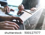 medical technology network team ... | Shutterstock . vector #500127577