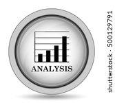 analysis icon. internet button... | Shutterstock . vector #500129791