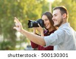 photographer learning in a... | Shutterstock . vector #500130301