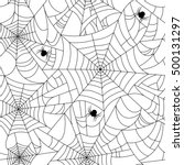 halloween spider web seamless... | Shutterstock .eps vector #500131297