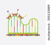 roller coaster icon  amusement... | Shutterstock .eps vector #500133889