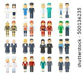 set of  professions for men and ... | Shutterstock .eps vector #500136235