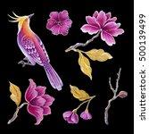 decorative bird  songbirds... | Shutterstock . vector #500139499
