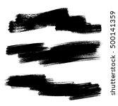 set of vector grunge background.... | Shutterstock .eps vector #500141359