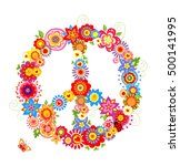 abstract peace flower symbol | Shutterstock .eps vector #500141995