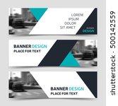 set of blue horizontal business ...   Shutterstock .eps vector #500142559