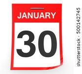 january 30. calendar on white... | Shutterstock . vector #500142745