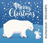 christmas vector card with... | Shutterstock .eps vector #500146891