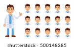 set of doctor emoticons. doctor ... | Shutterstock .eps vector #500148385
